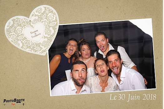 Photobooth Mariage Elodie et Florent Passy Chedde